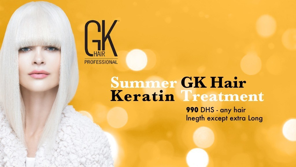 GK Hair Keratin treatment Dubai promotion July 2016