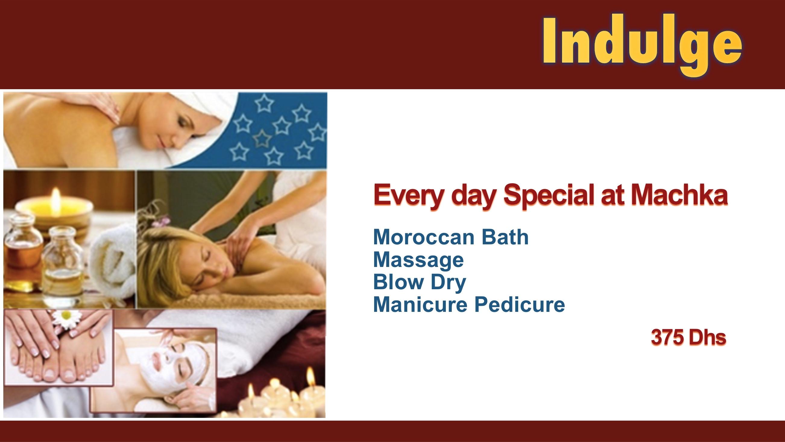 Moroccan bath promotion Dubai